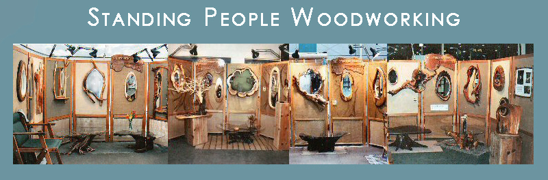 Outdoor Show Display of Wood Pieces